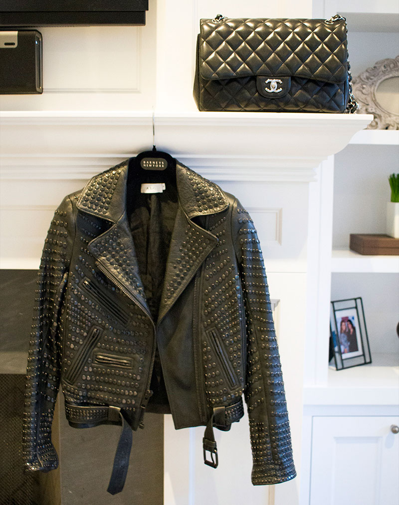 ALC jacket, leather jacket, chanel bag