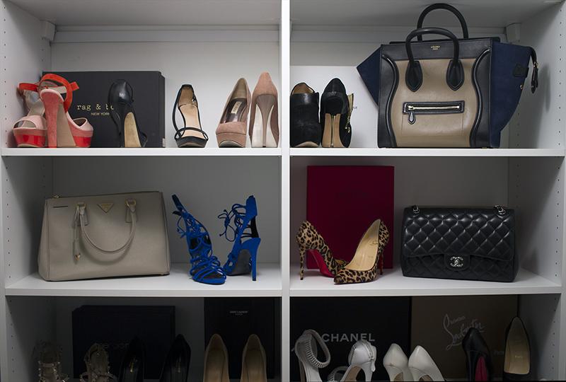 shoes, bags, closet