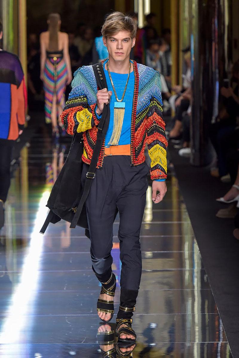 Balmain show, spring summer 2017, Paris Men's Fashion Week, France - 25 June 2016