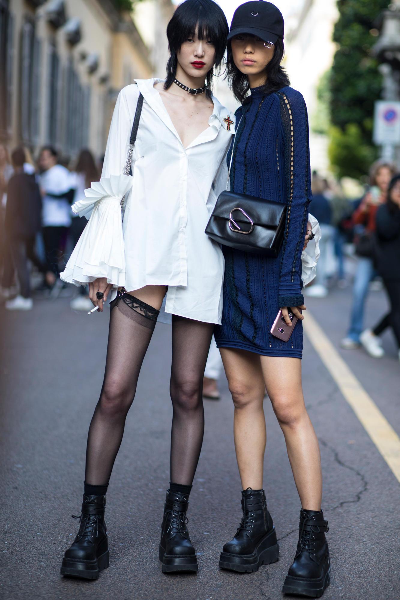 Milan Fashion Week Spring 2018 -- Street Style