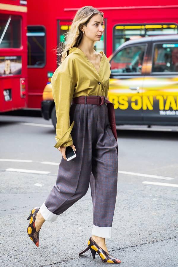 A subtle plaid trouser